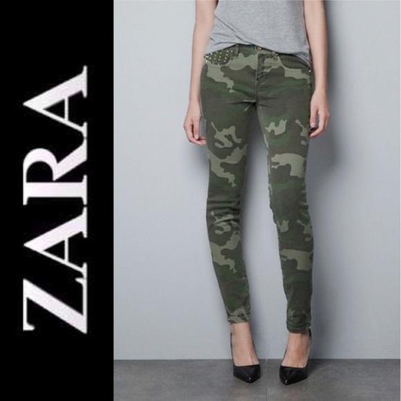 4b8f8c5c Zara Premium Studded Camo Skinny Jeans Pants 2. M_5c6dc112409c1586cf512867